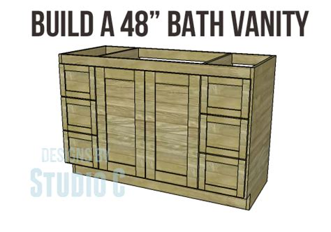 bathroom vanity plans diy woodworking plans to build a 48 bath vanity