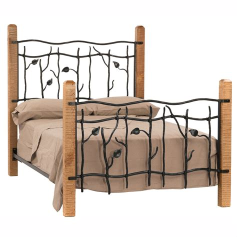 Black Leather Headboard Double by Sassafras Wrought Iron Bed Humble Abode