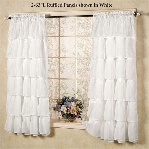 Ruffle Drapes - sheer voile ruffled window treatment