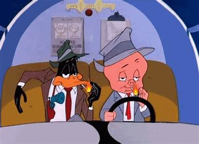 Daffy Duck Porky Pig Gangsters Guns Jays