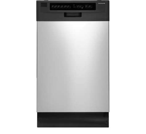 electrolux dishwasher air dry and delay lights frigidaire 18 39 39 built in dishwasher stainless steel