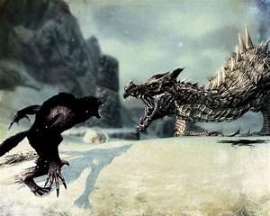 Werewolf vs dragon by EzhovS on DeviantArt
