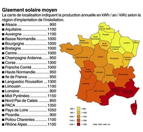 Carte Ensoleillement by Carte De L Ensoleillement En Carte De L