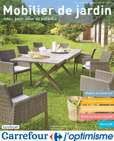 catalogue carrefour mobilier jardin avril mai 2015