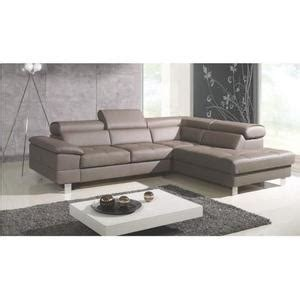 canapé taupe pas cher canape d angle cuir taupe achat vente canape d angle