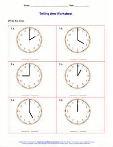 worksheets for class 1 maths telling time worksheets for 1st grade