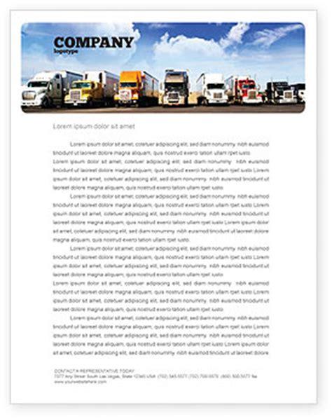 trucks letterhead template layout  microsoft word