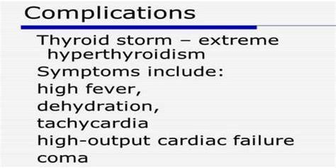 hyperthyroidism  risk factors  complications