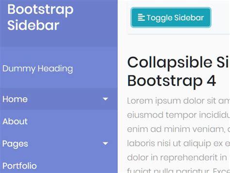 cool sidebar navigtation templates  bootstrap