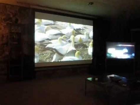 The 120 inch electric projector screen by ELITE SCREENS