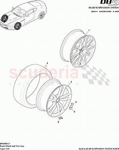 Aston Martin Dbs V12 Front Wheel And Tyre Assembly Parts