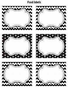Free Printable Labels Black And White Blank ...