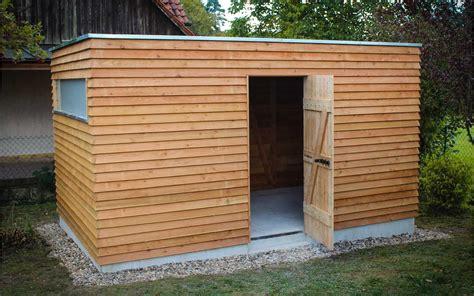 Gartenhaus Holz Flachdach by Gartenhaus Flachdach Selber Bauen Anleitung