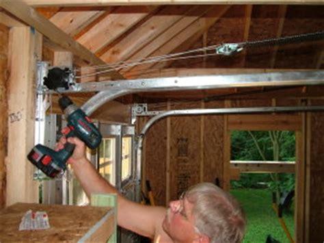 Putting A Door Into A Garage by Install A Garage Door Ask The Builderask The Builder