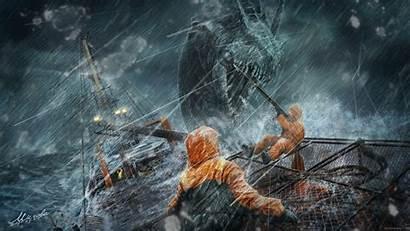 Monster Sea Wallpapers Fantasy Backgrounds Desktop Ocean