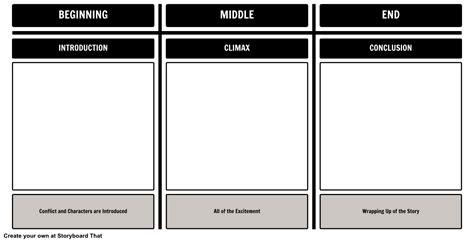 plot diagram beginning middle  storyboard