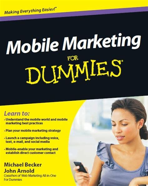 marketing for dummies arnold and michael becker mobile marketing for