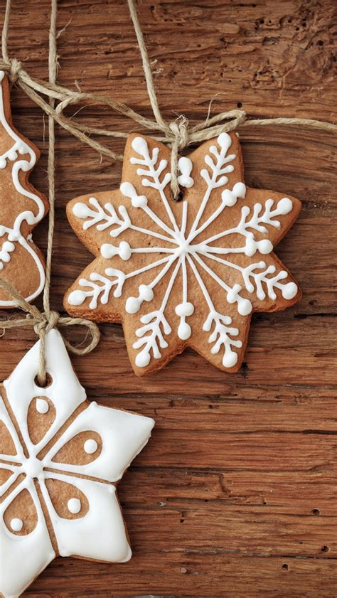 christmas baked cookies iphone  wallpaper hd