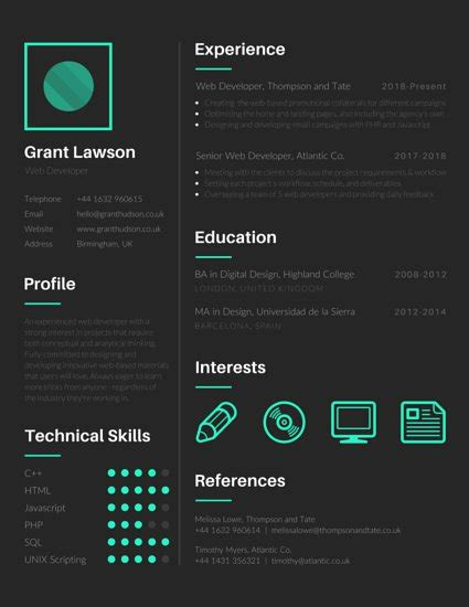 Resume Creator For Linux by 30 Best Developer Software Engineer Resume Templates