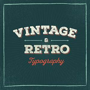 50 Beautiful Examples Of Vintage And Retro Typography  U2013 Learn
