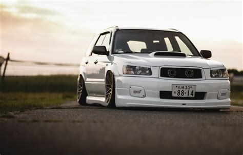 2015 subaru forester stance wallpaper tuning japan low face white sti forester