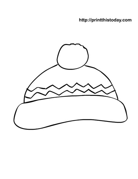 winter hat template free printable winter coloring pages