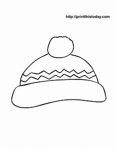 free printable winter coloring pages With snow hat template
