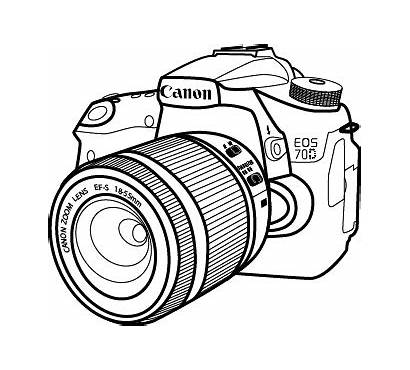 Canon Camera Drawing Sketch Lens Graphic Sketches