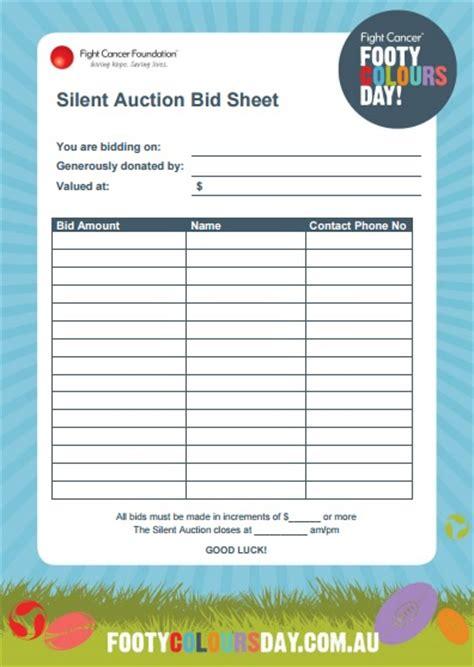 silent auction forms templates templates assistant