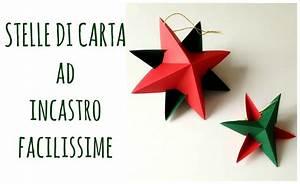 Stelle di Carta ad incastro senza colla ne punti,FACILISSIME! Paper star (Natale) Arte per Te
