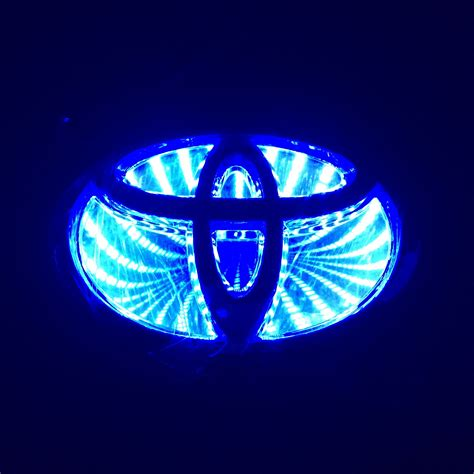 3d car logo blue light for toyota rav4 prado 2011new reiz auto badge light ebay