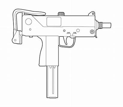 Gun Mac Uzi Pistol Ingram Drawings Tattoo