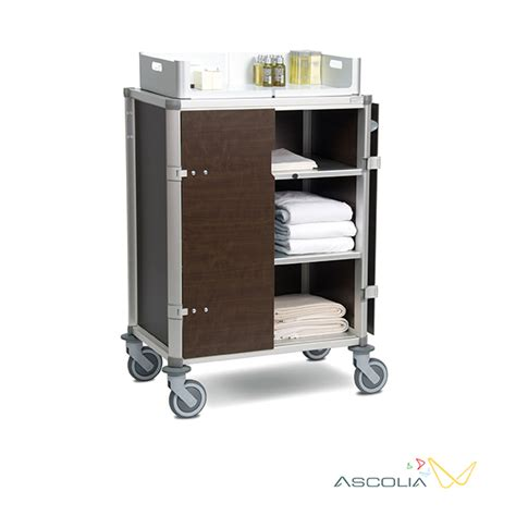 chariot femme de chambre gamme traditionnelle ascolia trolleys