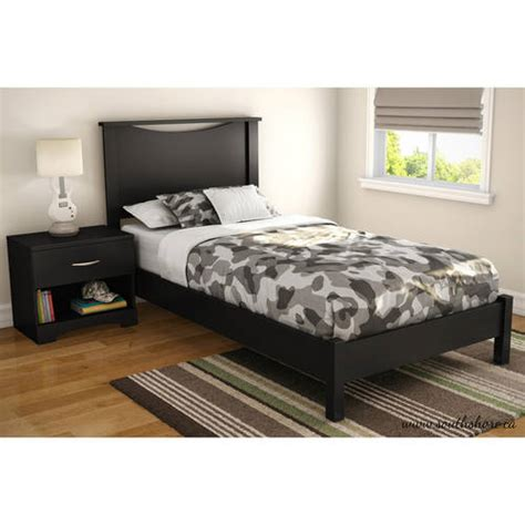 south shore soho twin platform bed headboard and