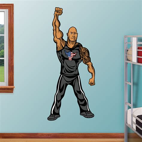 rock wall graphics wwe wrestling stickers  magnets