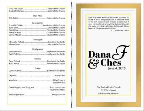 wedding program cards