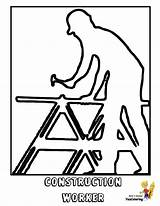 Construction Coloring Carpenter Printable Gritty Worker Yescoloring Boys sketch template