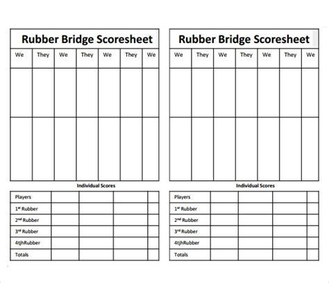sample bridge score sheet   documents