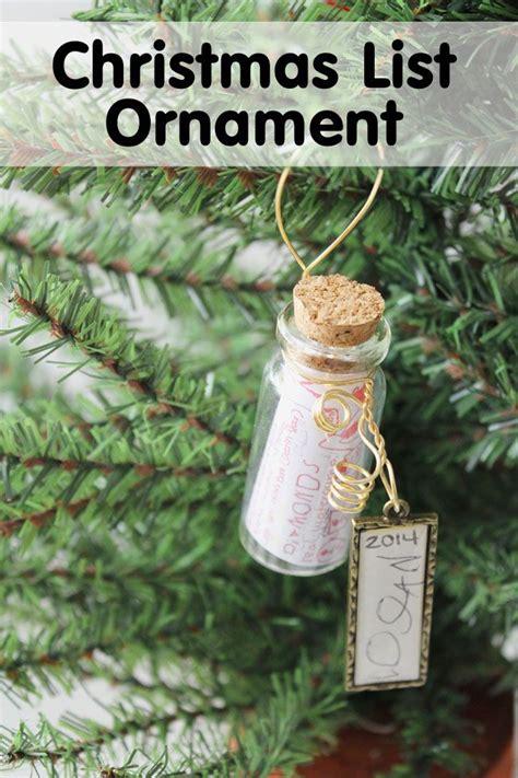 christmas wish list ornament diy christmas pinterest