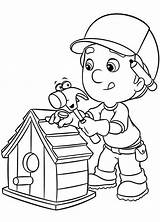 Coloring Pages Tools Bird Manny Handy Mechanic Doctor Birdhouse Making Printable Drawing Colorings Getdrawings Popular Getcolorings Construction Coloringhome sketch template