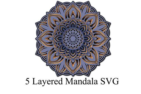 Instantly download & no physical item will be. 3D Layered Mandala SVG and PNG 5 Layers (666416)   Paper ...