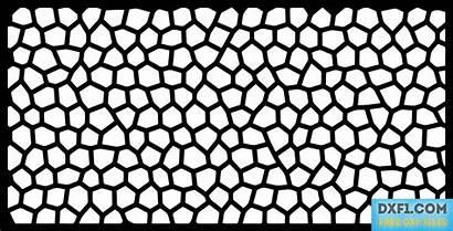 Plasma Cut Panel Pattern Voronoi Dxf Metal