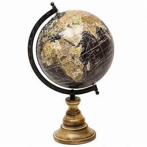 Globe Terrestre Sur Pied : grande mappemonde globe terrestre d coratif rotatif planisph re sur pied carte ronde 21x23x36cm ~ Teatrodelosmanantiales.com Idées de Décoration