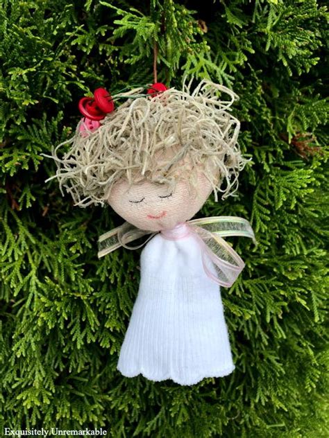 sweet sock angel ornament allfreechristmascraftscom