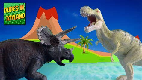 Dinosaur Toys Fighting Battle T-rex Vs Triceratops Toy