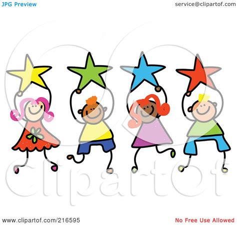 Royalty-Free (RF) Clipart Illustration of a Childs Sketch ...
