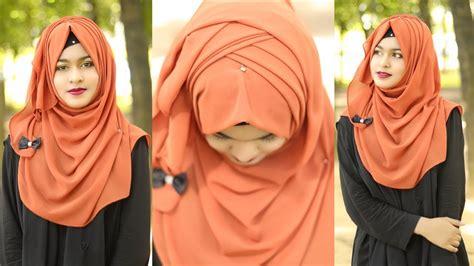 criss cross hijab style  chiffonjorjet hijab