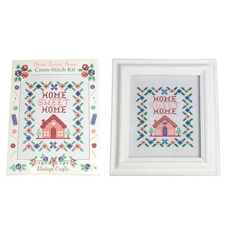 dotcomgiftshop home sweet home cross stitch kit ebay