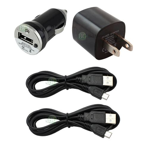 android phone charger 2 usb 6ft micro battery data sync cable car wall charger