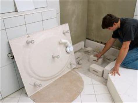 bauen sie eine neue duschtasse ein bauhaus